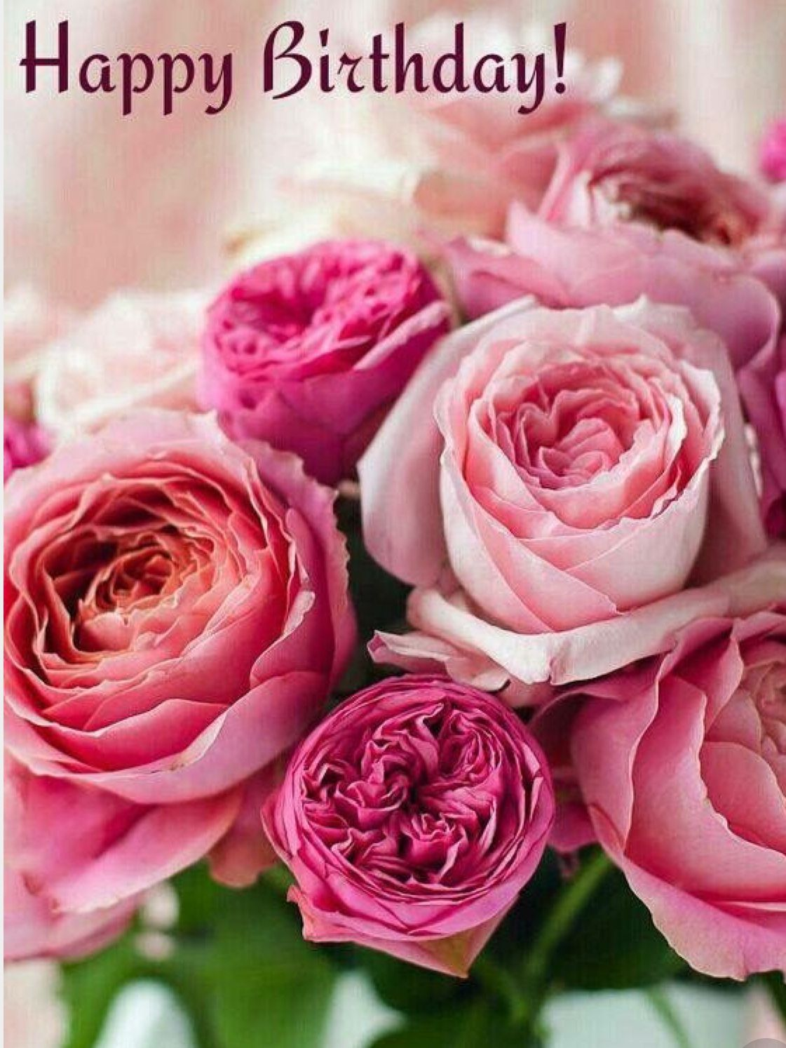Pin By Paula Simon On Greetings From Me Birthday Wishes Flowers