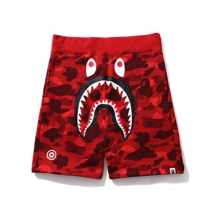 2019Bape A Bathing Ape Shark Head Camouflage Casual Shorts Beach Shorts