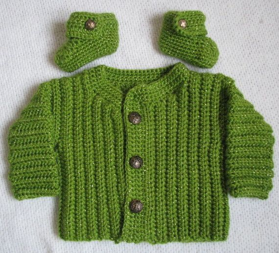 c7d7c6dce86d Green baby sweater