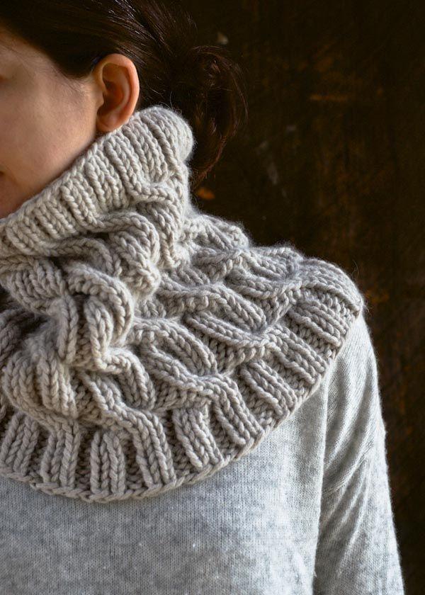 DIY: cozy cable cowl #Knit | Bufandas | Pinterest | Capucha ...