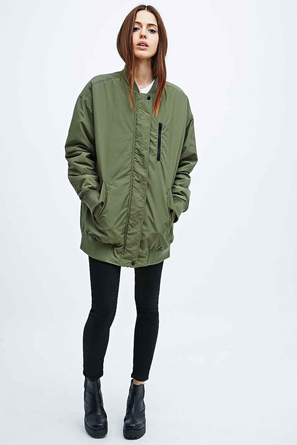 Image 4 of ASOS Longline Bomber Jacket | Clothing | Pinterest