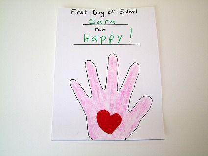 Pin by Kihm Cibulskas on First day | Back to school crafts