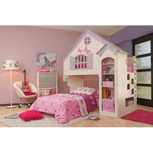 Oeko Furniture Amberly Dollhouse Bed Kids Teen Rooms Walmart
