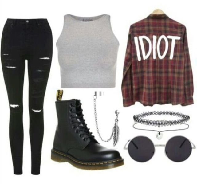 32c121648150 Minus the crop top and the sunglasses but yeah Cute Punk Outfits