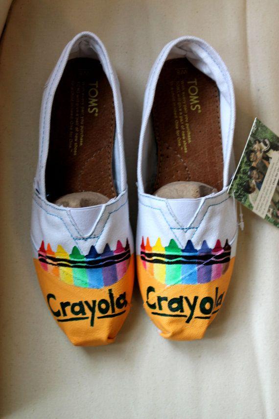 d03e847332b0ee Crayola Crayon TOMS on Etsy