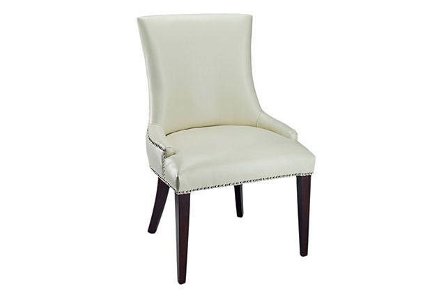 Cream Leather Dining Chair On OneKingsLane.com