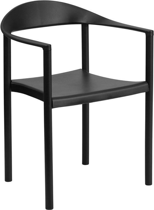 Black Plastic Stacking Chairs #34 - Black Plastic Indoor U0026 Outdoor Restaurant Dining Stack Chair $46.95 Each W/  500 Lbs Capacity