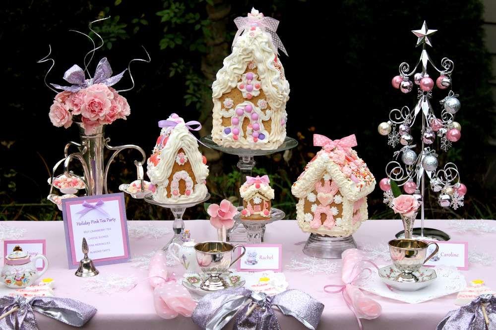 Christmas Tea Party Ideas Part - 22: Gingerbread House Tea Party Christmas/Holiday Party Ideas