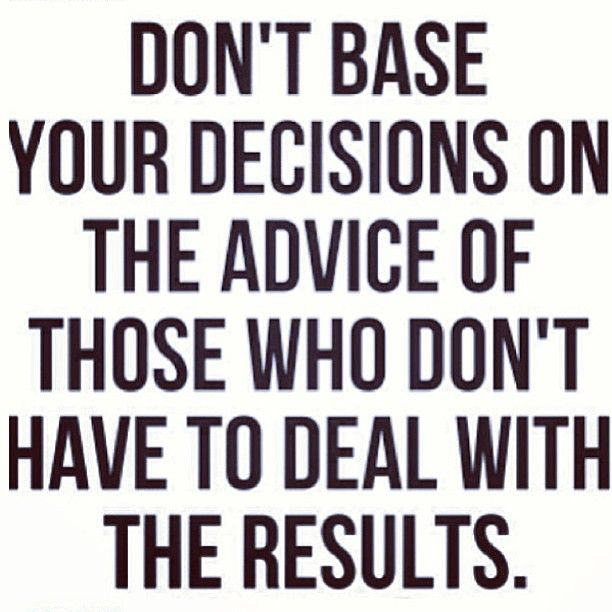 Repost from @Allison McGevna  #truth #advice #decisions