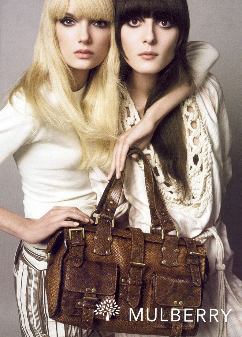 Lily Donaldson & Irina Lazareanu by Steven Meisel for Mulberry S/S 2006