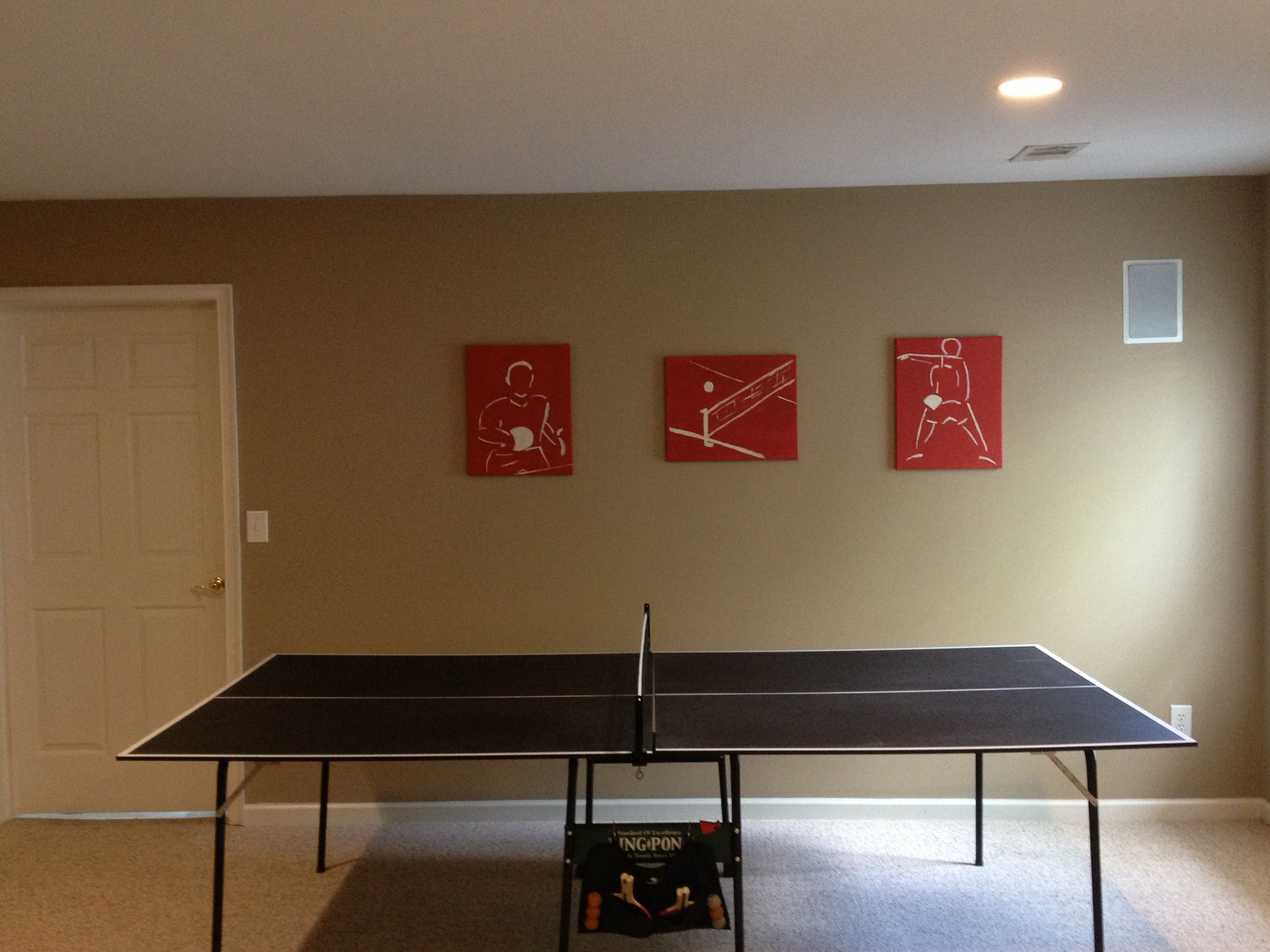 Cheap Wall Art ($15) For Ping Pong Area Of Game