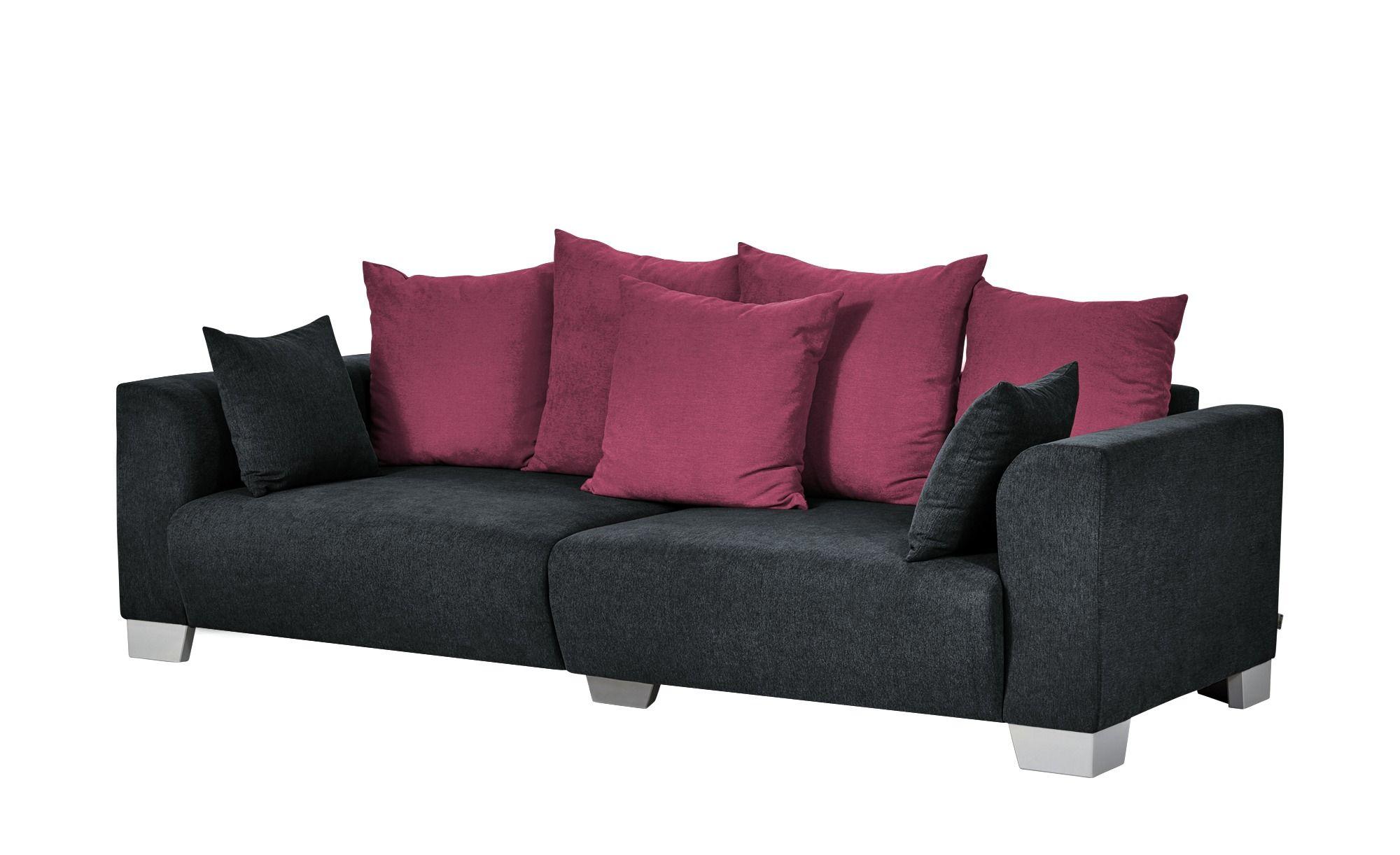 Smart Big Sofa Schwarz Flachgewebe Tonja In 2019 Grosse Sofas Sofa Und Big Sofa Grau