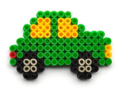 Car Perler Beads Perler Beads Basteln Bügelperlen Hama