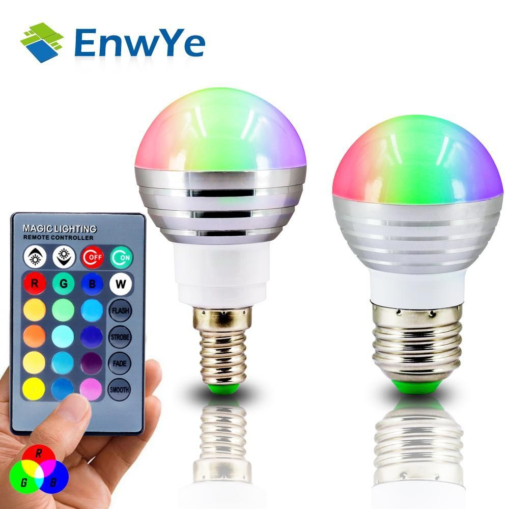 Enwye E27 E14 Led Rgb Bulb Lamp Ac110v 220v 3w Spot Light Dimmable Dimmer Magic Holiday