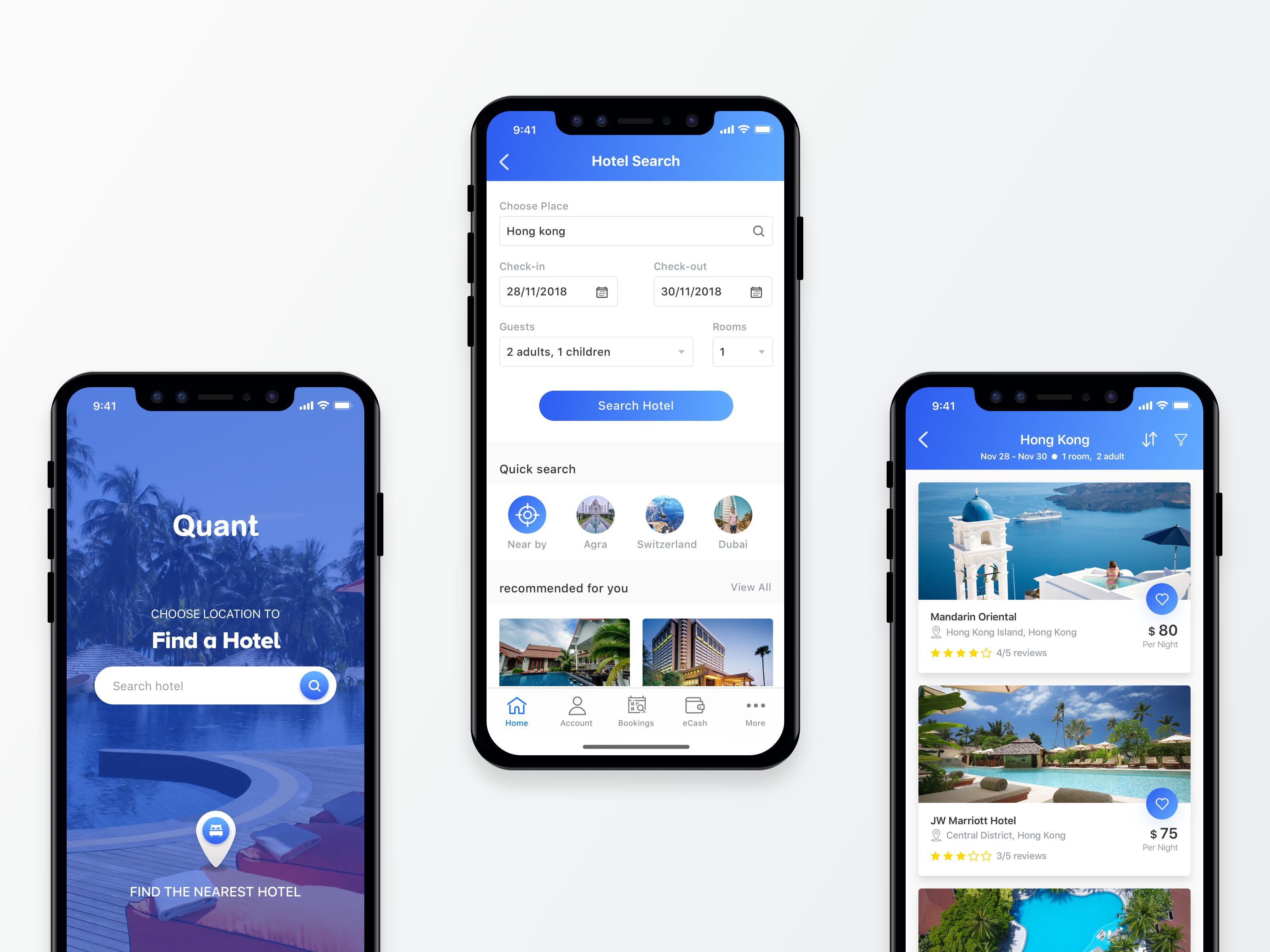 Quant Hotels Booking App Di 2020 Dengan Gambar Desain