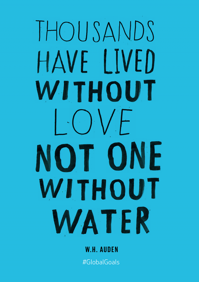 Quotes About Water Clean Water And Sanitation Quote  Global Goals  Pinterest  Goal