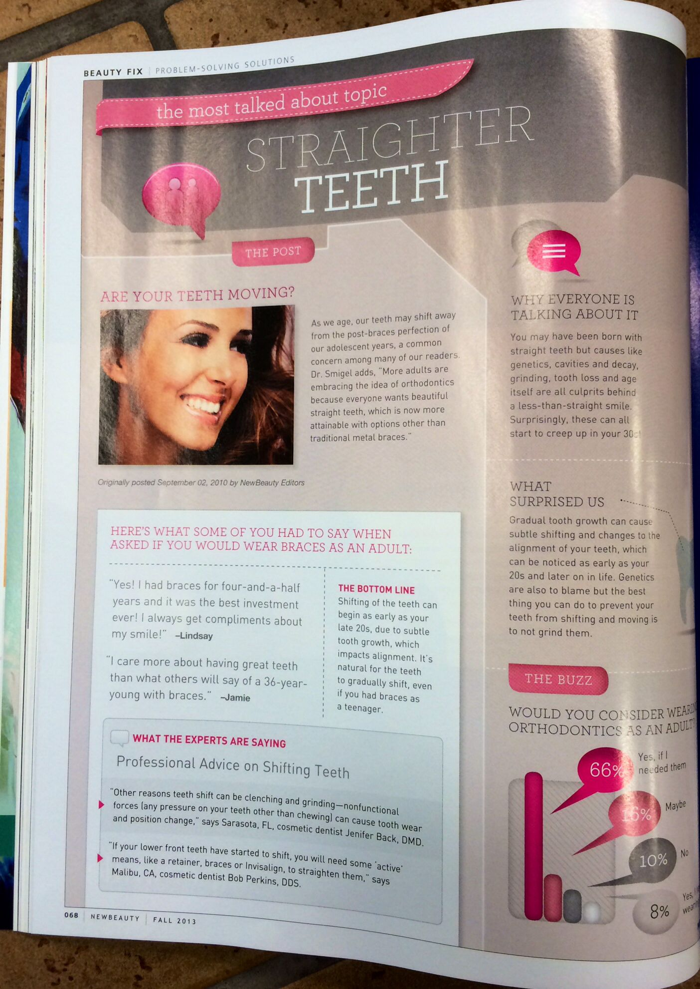 Text Blocks Straight Teeth Magazine Design Cavities
