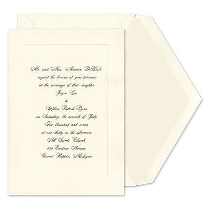 Simple Panel Invitations Birchcraft Wedding Invitations Wedding Stationary Invitations