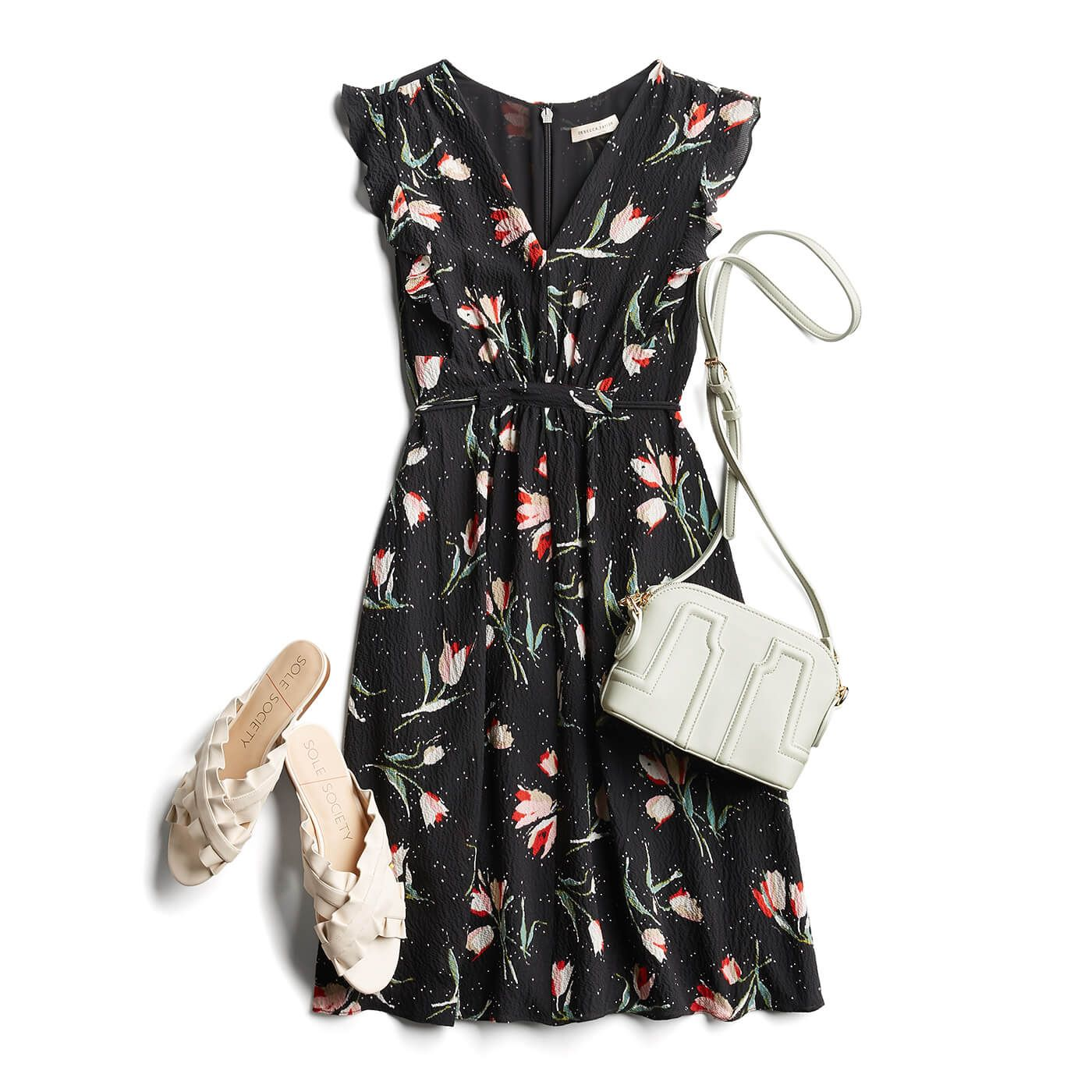 3019210ede Spring Fashion- super cute dress  love the pattern and the cut with the flat