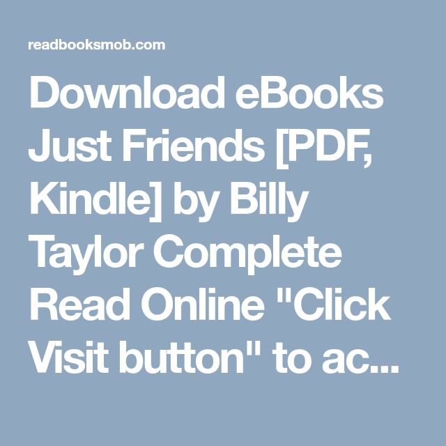 download ebooks just friends pdf kindle by billy taylor complete