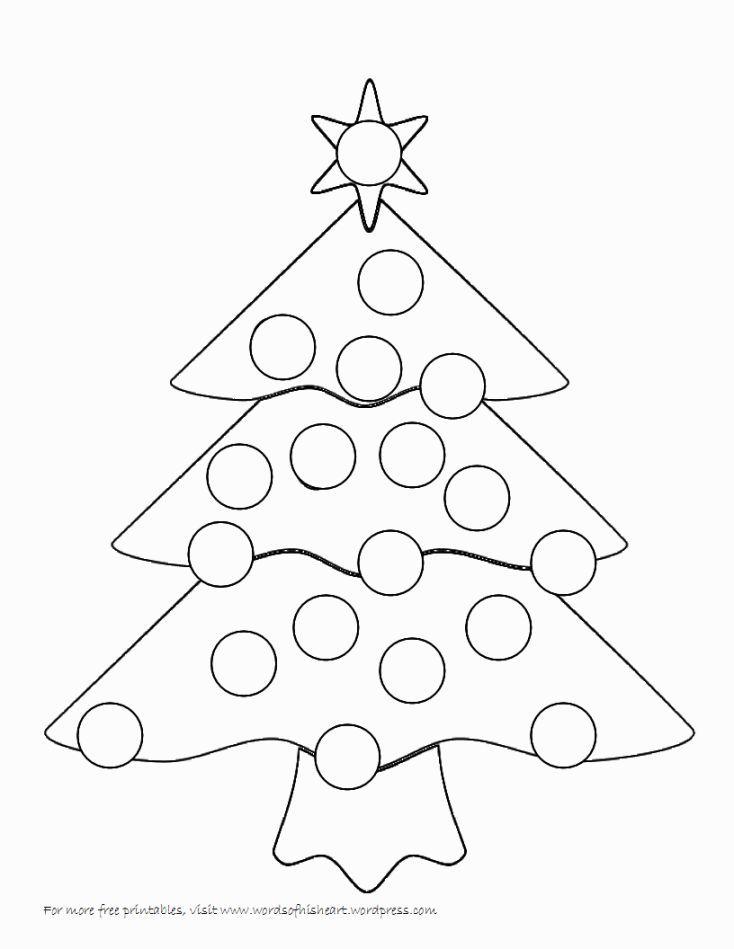 Bingo Dauber Coloring Pages Handmade Christmas Crafts Christmas Coloring Pages Christmas Tree Crafts