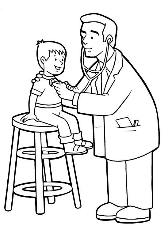 doctor coloring pages pictures doctor day cartoon coloring pages - Kitty Doctor Coloring Pages