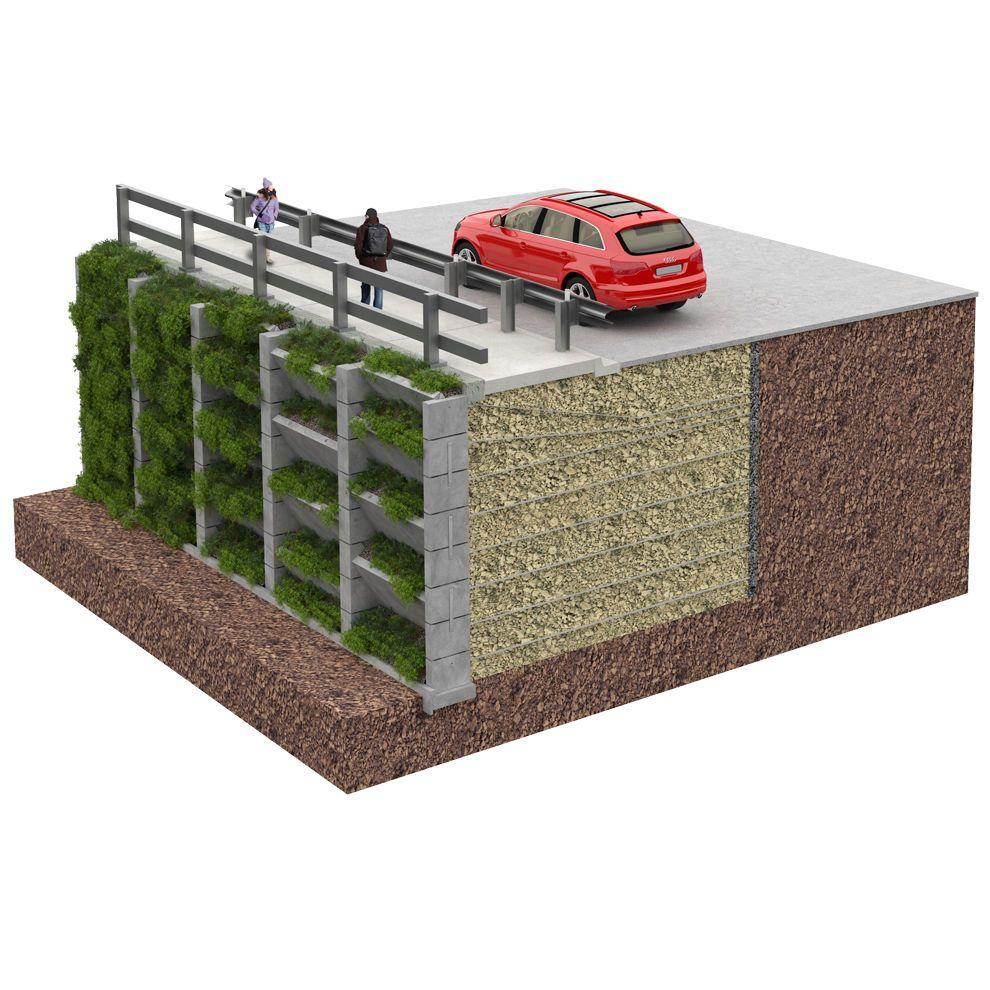 Detail Of One Man Boulder Edging For Raised Beds: Muro De Contencion Sobre Tierra