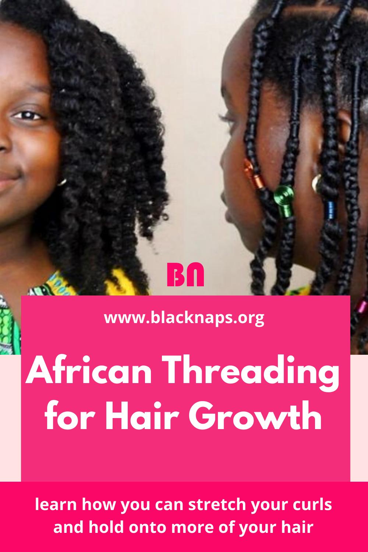 African threading for hair growth