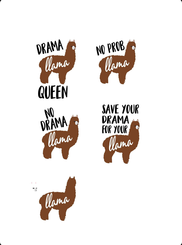 Download No Prob llama svg, drama llama svg, llama svg, no drama ...