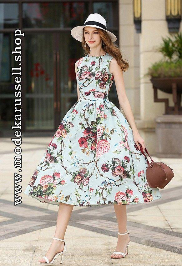 Wadenlanges Blumenkleid Sommer Kleid | Kleid | Pinterest ...