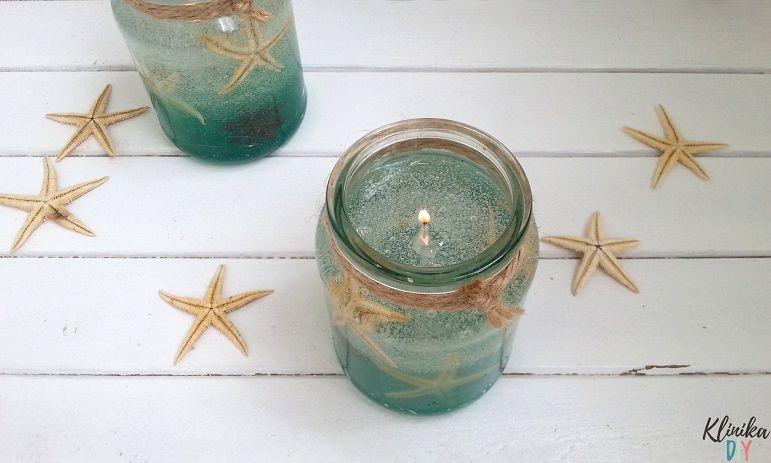 Trzy Pomysly Na Zelowe Swiece Klinika Diy Candles Candle Holders