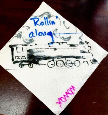 Sciencey Autism: Napkin Notes-- Steam Locomotive 3/17/2015