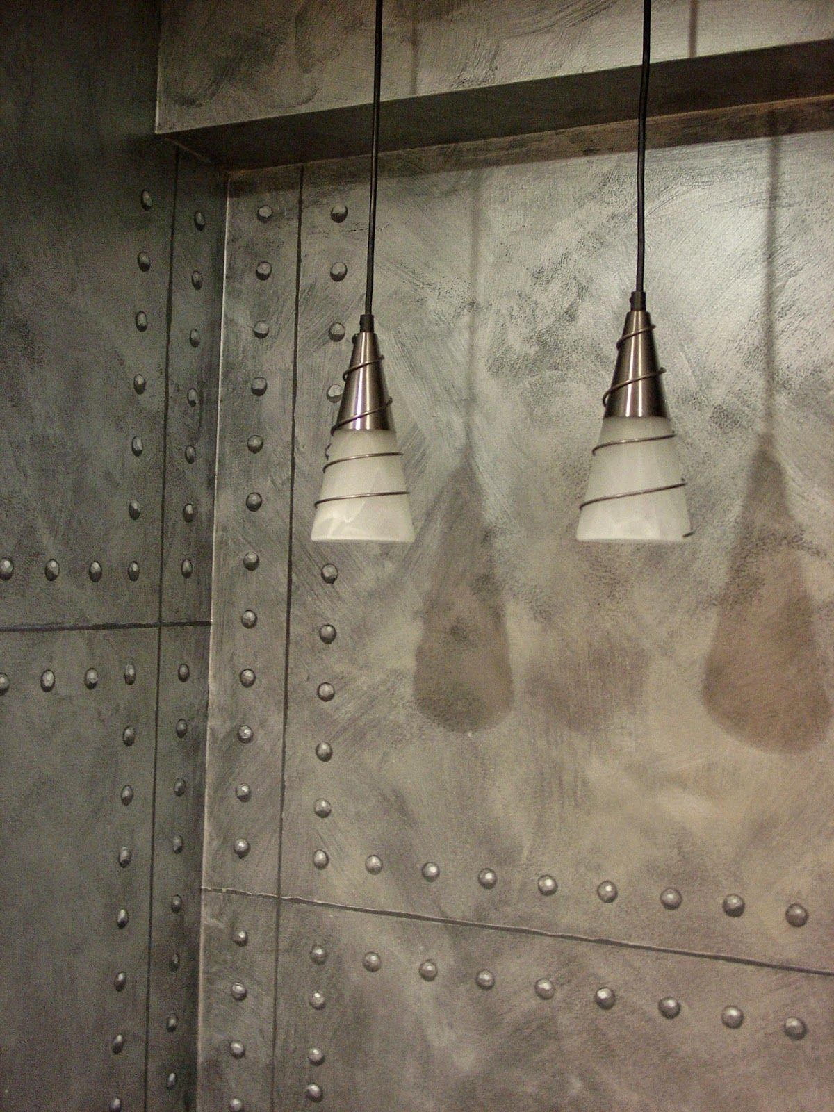 Decorate Your Walls With Nailheads And Rivets Metal Walls Metal Wall Panel Wall Treatments