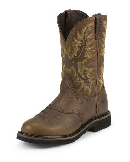 Men S Sunset Cowhide 11 Quot Stampede Round Toe Boot Justin