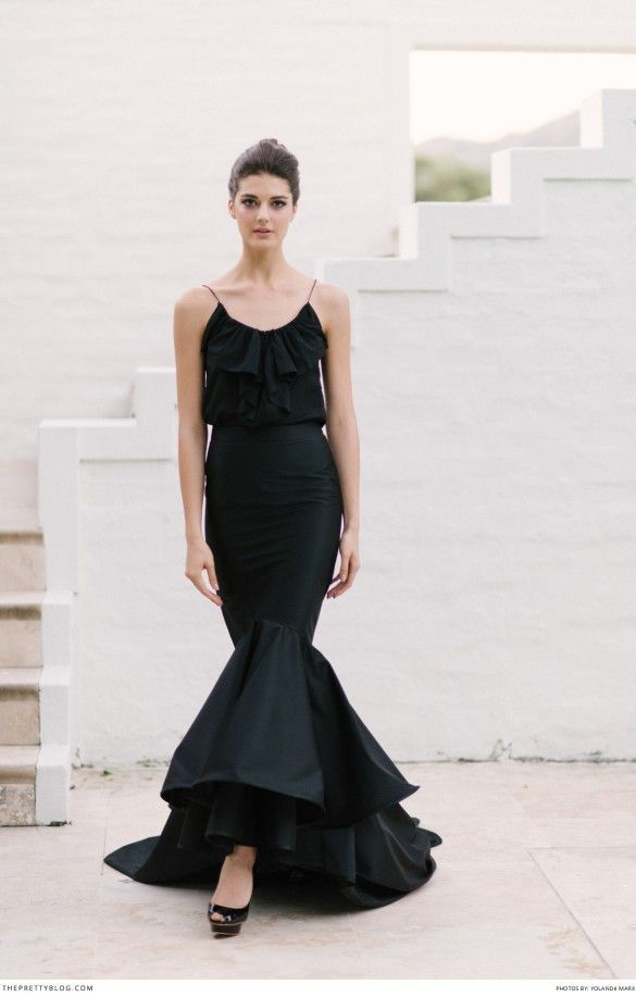 Mermaid style black dress. SO elegant |  Danielle Margaux