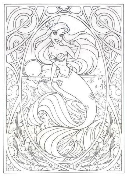 Coloriage Ariel Art Thérapie Coloriage Coloriage