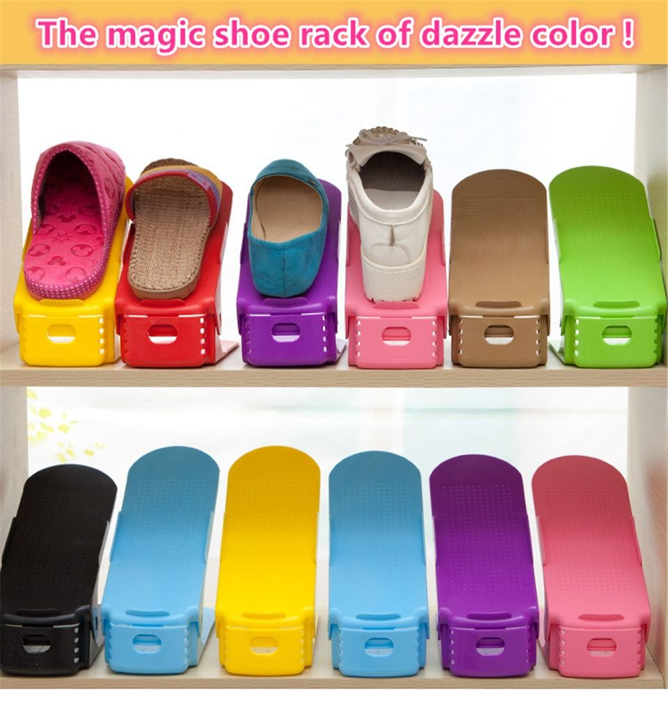 5701efe77cede 16PCS Double Shoe Organizer Modern Shoes Rack Shoe Storage Cleaning ...