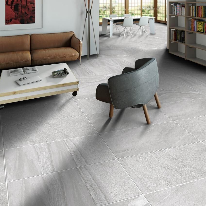 Blendstone Grey Floor Tiles 45 X 90 Cm