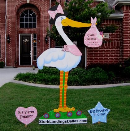 Classy Stork Signs In Dallas Park Cities Richardson