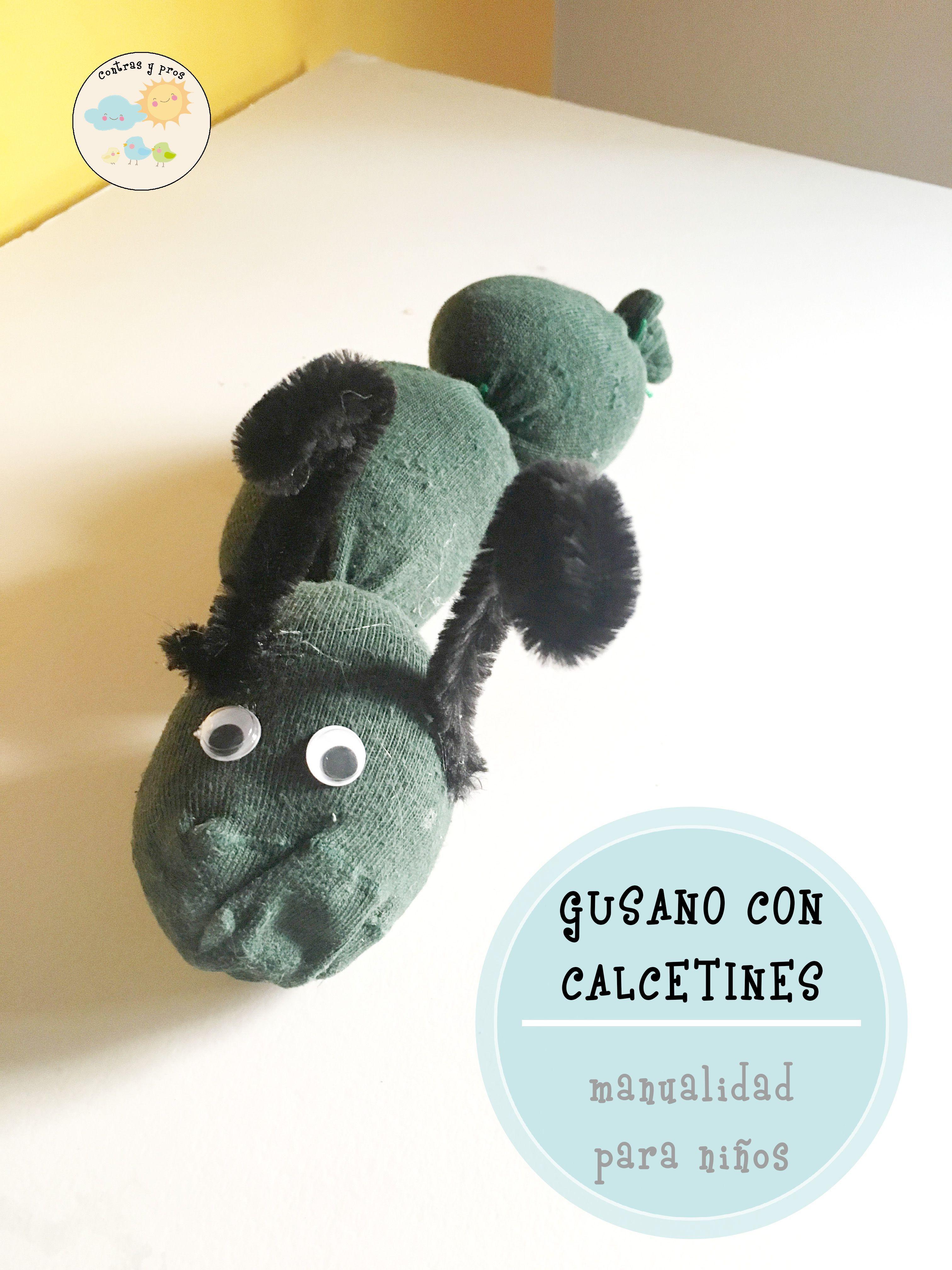 de hacer un gusano con calcetines | Niños | Pinterest | Gusanito ...