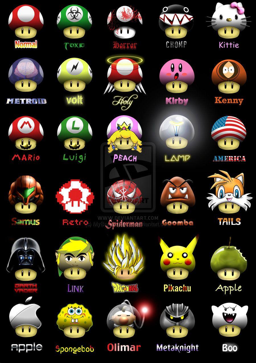 Super Mario Shrooms by MyBurningEyes.deviantart.com | Random ...