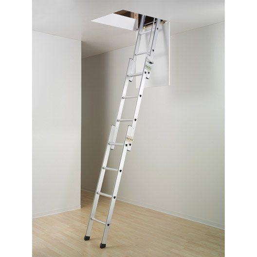 escalier escamotable droit structure aluminium marche aluminium escalier escamotable echelle