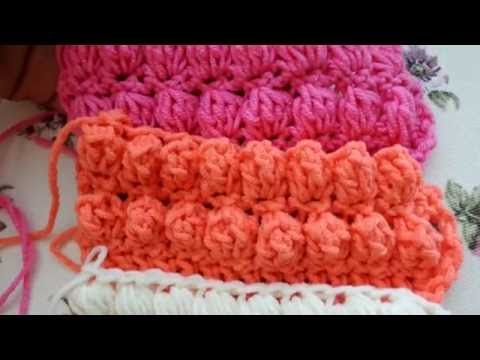 How To Make Puff Bobble And Popcorn Stitches Beautiful Crochet