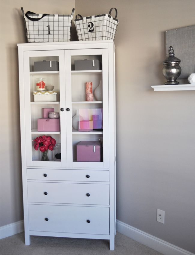 I Love This Cabinet Idea For Storing Office Supplies