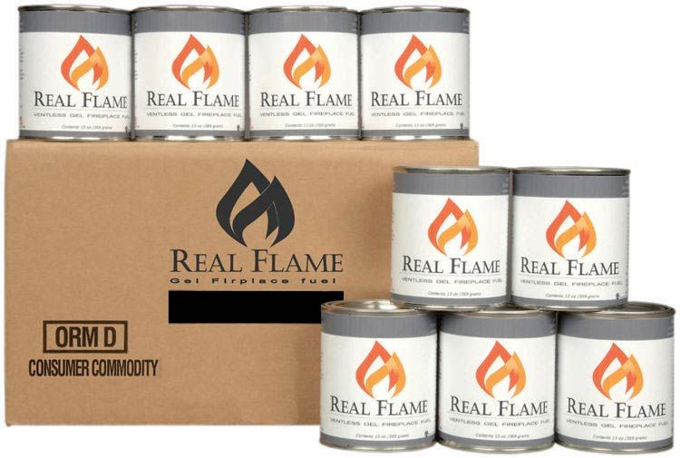 Case Of Real Flame Gel Fuel By Real Flame By Jensen   1 800
