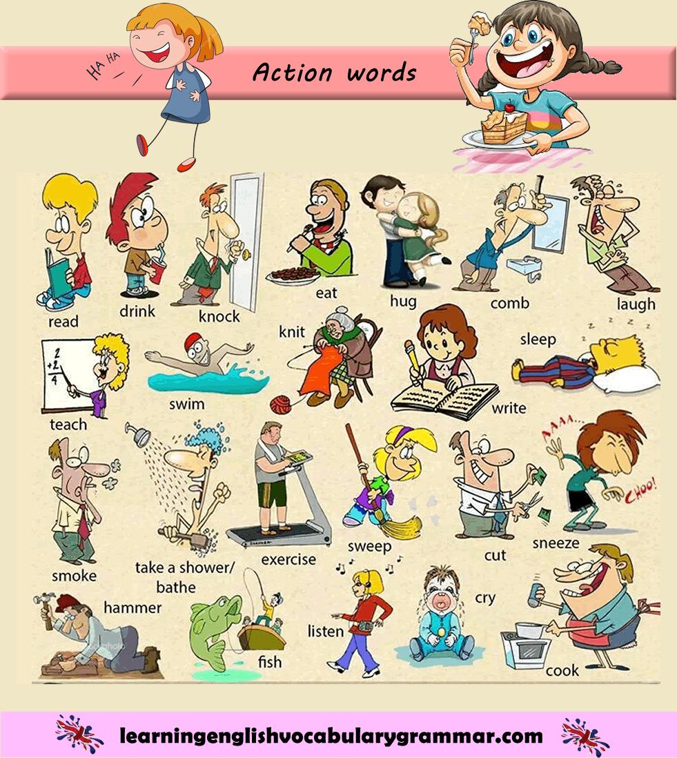 Картинки с действиями для английского на русский