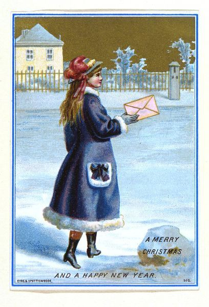 a merry christmas and a happy new year greetings card eyre spottiswoode late 19th century