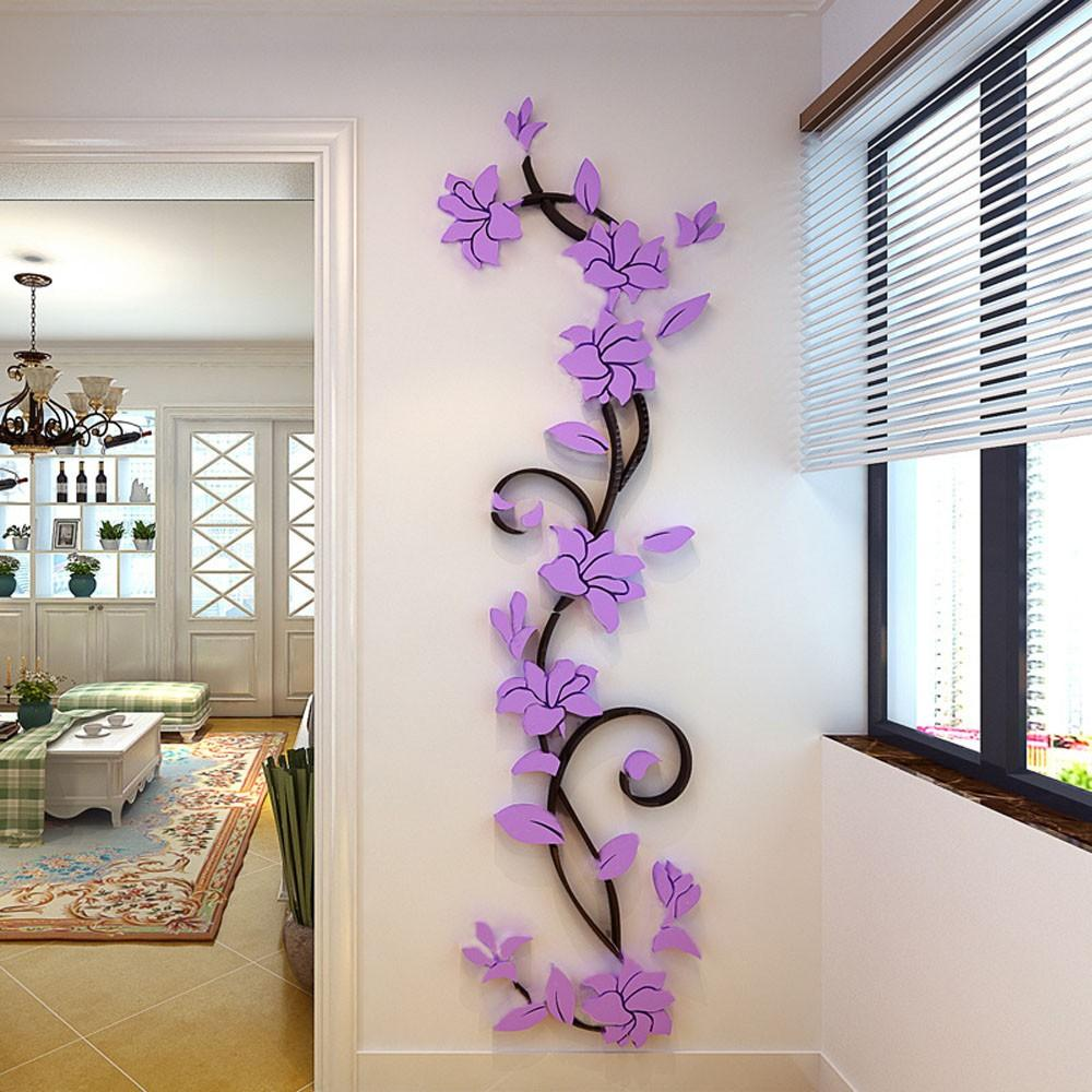 3d Romantic Rose Flower Wall Decals Limited Edition Wall Stickers Home Decor Diy Wall Stickers Wall Decor Decals