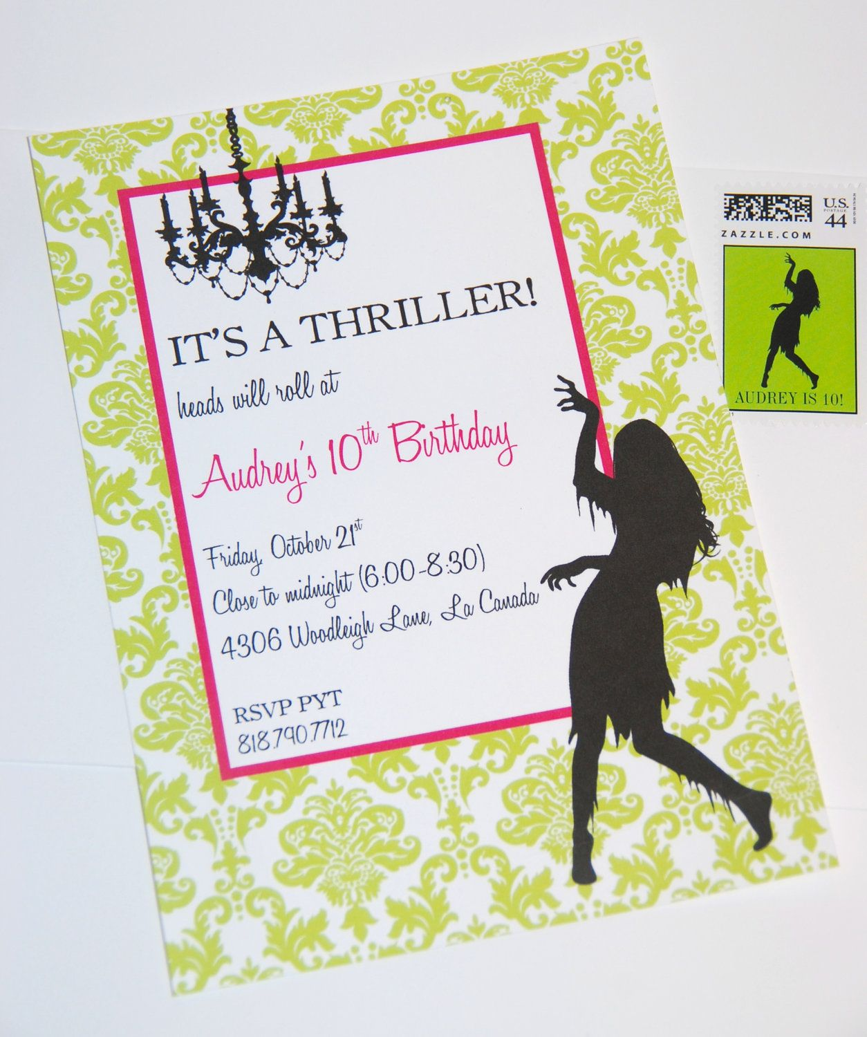 Printable Invitations- Thriller Halloween Party by Bloom. $14.00 ...