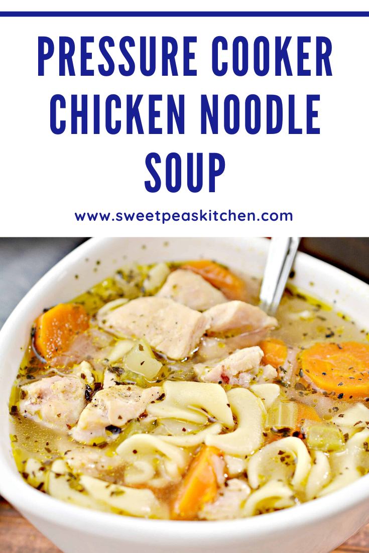pressure cooker hearty chicken noodle soup  recipe